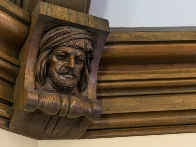 Gym Carved Faces 4