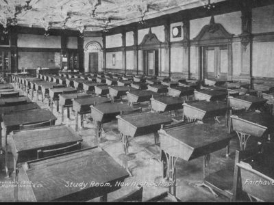 1906 Photo of new Room Study Hall